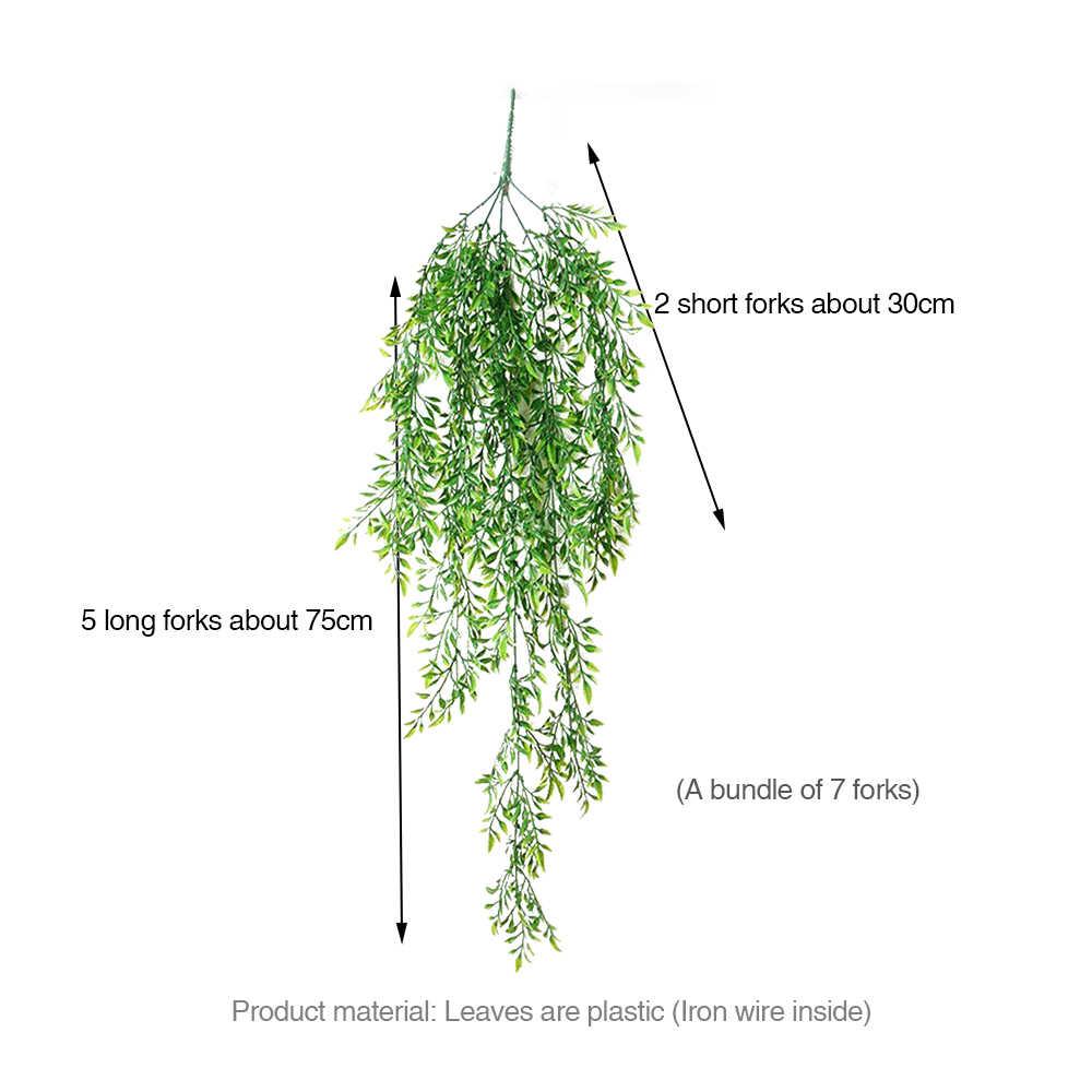 Simulasi Fern Rumput Hijau Tanaman Pakis Buatan Daun Persia Bunga Wall Hanging Tanaman untuk Dekorasi Rumah Pernikahan