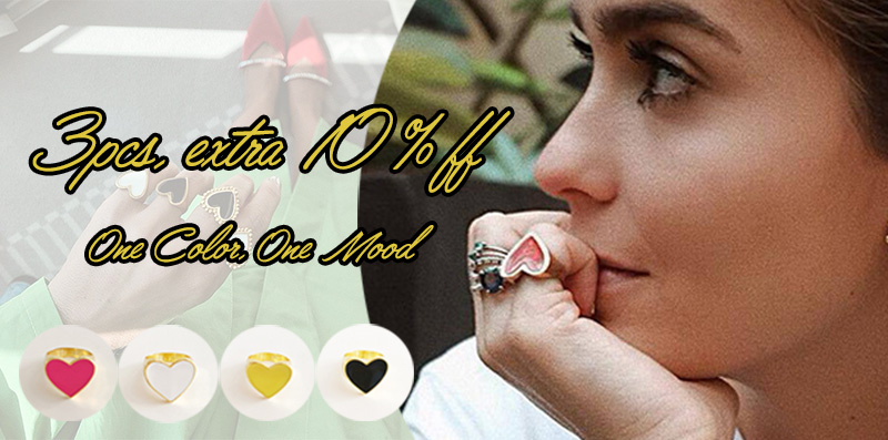 Heart Rings Party Rings Vintage Gold Color For Women