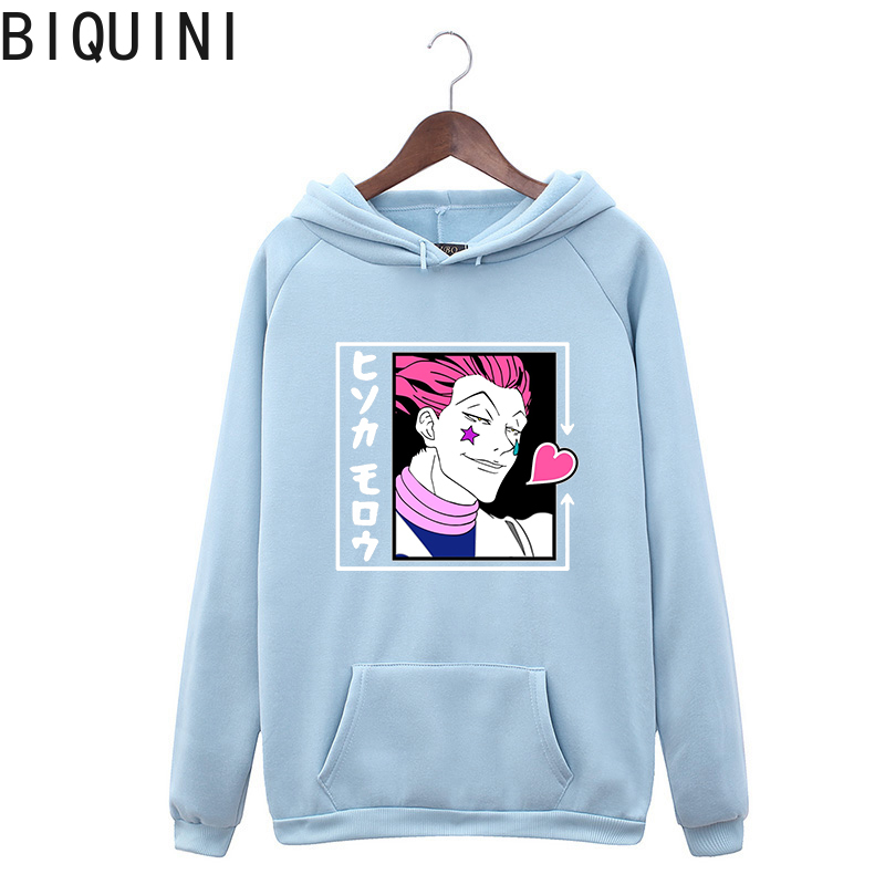 HUNTER X HUNTER HISOKA MOROW Hoodies 12 Color Hooded Tops UNISEX basic print Sweatshirt Long-sleeved  Plus Velvet  Streetwear 9