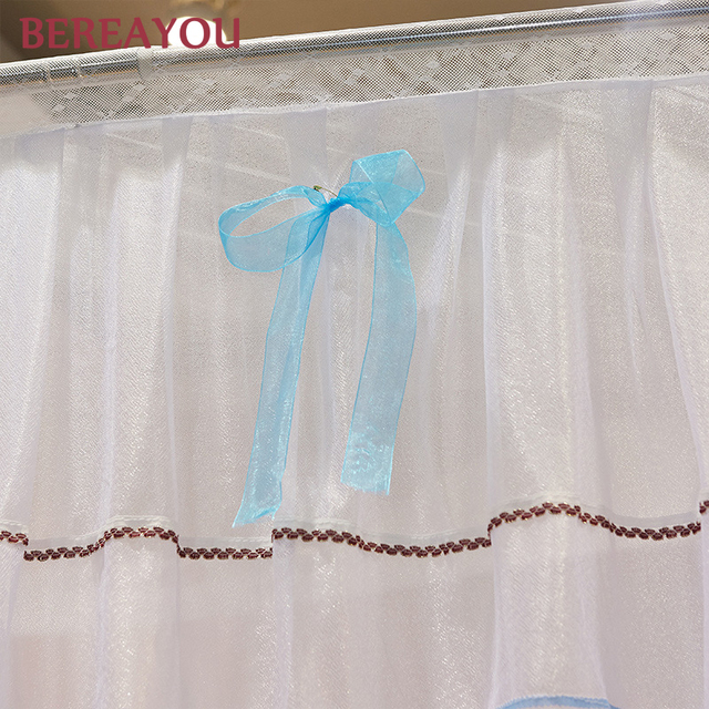 ناموسية فاخرة للسرير المزدوج نموسية للسرير مع الفولاذ المقاوم للصدأ الوردي الأميرة الدانتيل المحكمة السرير عباءة غرفة نوم baldachin dekoration 6