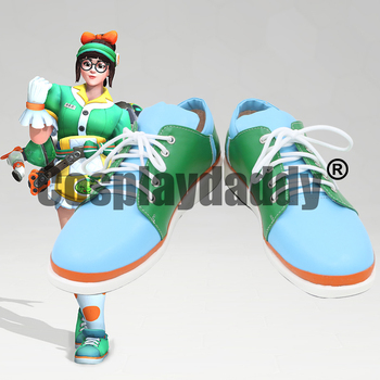 OW Climatologist Adventurer Damage Mei-Ling Zhou Anniversary Honeydew Ver. Game Cosplay Shoes C006 image
