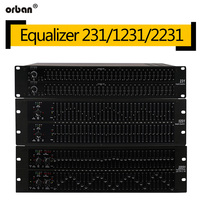 231 professional equalizer provides stage analog dual channel 31 band stereo 231 EQ audio signal processor