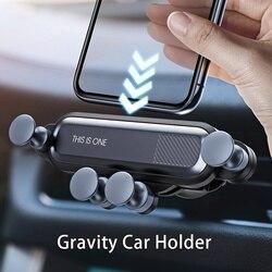 Gravity uchwyt na telefon komórkowy dla uchwyt samochodowy klips mocowany do kratki nawiewu powietrza uchwyt na gps wspornik stojakowy nie magnetyczny uchwyt do telefonu na iphone Xiaomi w Uchwyty samochodowe od Samochody i motocykle na
