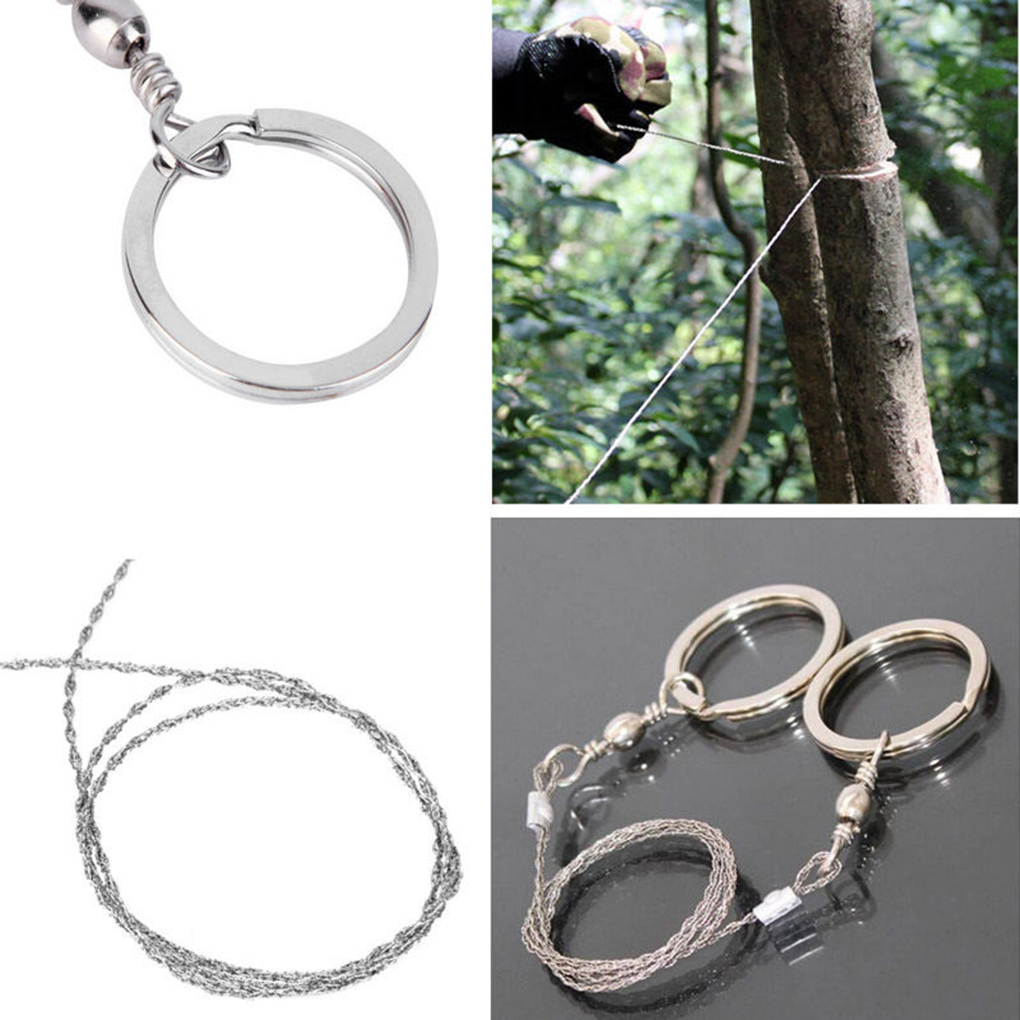 Outdoor Wire Saw Ring Scroll Chainsaw Hand Rope Chain Saw Emergency Survive LD