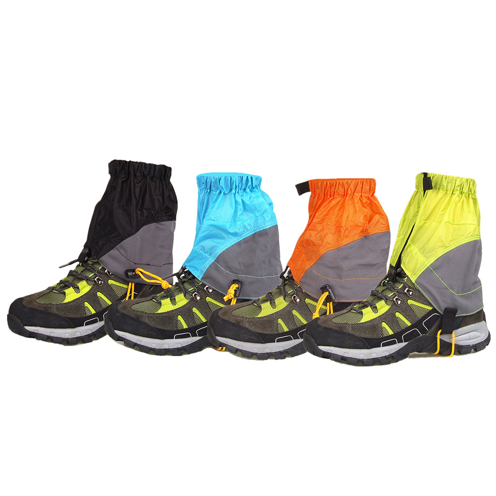 Cross Border For Outdoor Light Silica Gel Gaiters Waterproof Anti-Tear Breathable Sand-proof Booties Running Hiking Legguard