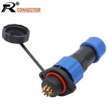 SP16 – connecteur étanche IP68, 2 3 4 5 7 9 broches, avec 2 trous, Type bride, qualité supérieure, DIY YOU