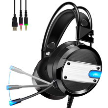 PS4 Gaming Headset 4D Stereo Earphone with Microphone Internet cafe Video Game Headphone for New Xbox One/Laptop/PC Tablet Gamer sades sa 810 gaming headset 3 5mm wired stereo ear headphone with microphone for pc laptop ps4 xbox one game head phones