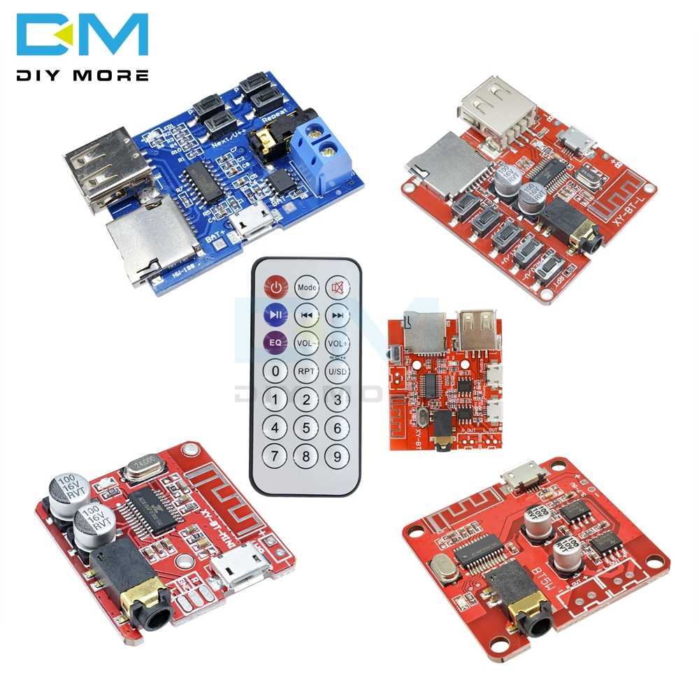 Mini MP3 Bluetooth 4.1 4.2 Lossless Decoder Stereo Output Papan Mobil Speaker Amplifier Modul Papan Sirkuit Modul 5V Mikro USB