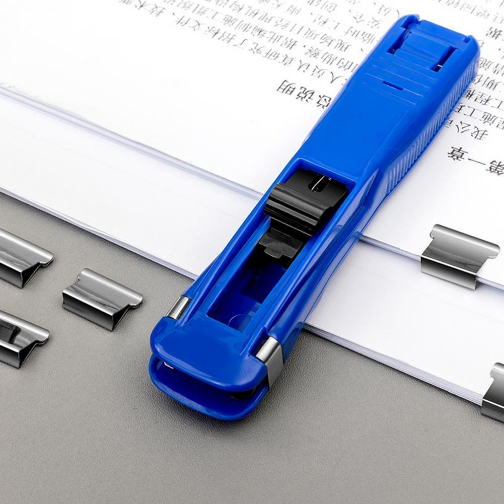 Reusable Fixed File Pusher Paper Clipper Dispenser School Clip Office Supplies