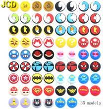 JCD 4PCS สำหรับ Joy CON ซิลิโคนจอยสติ๊ก Thumb Stick Grip ฝาครอบ Analog Caps สำหรับ Nintendo สวิทช์ NS Joy CON CONTROLLER