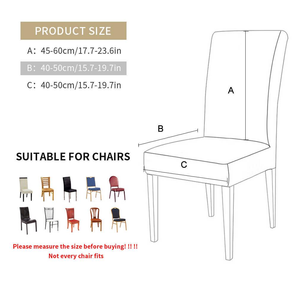 1/2/4/6Pcs Warna Solid Kursi Cover Spandex Stretch Elastis Sarung Kursi Pelindung untuk Makan pesta Jamuan Pernikahan Ruang