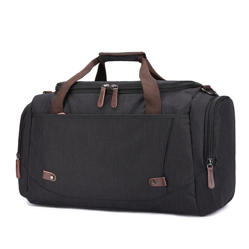Bolsa de viaje de gran capacidad material anti salpicaduras para hombres y mujeres bolsa de viaje de color puro - 5