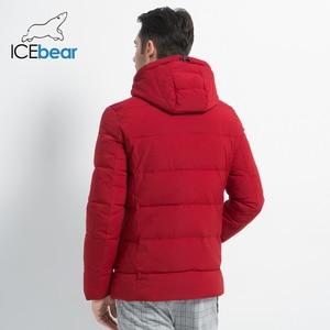Image 4 - ICEbear 2019 חדש גברים של חורף מעיל באיכות גבוהה גברים של מעיל ברדס זכר מעיל לעבות חם גבר הלבשה MWD18925I