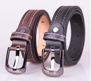 Child formal dress boys teenage belt designer kids PU leather fashion elastic belt buckle black Leisure strap Casual Belt GG(China)