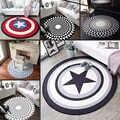 OLOEY 1PC 80cm de diámetro Marvel vengadores alfombra de felpa Hombre de Hierro de Capitán América Batman alfombra de algodón regalo de Navidad para los niños
