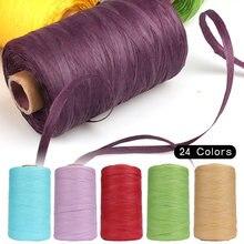 280-300 medidor de fio de ráfia de algodão para a mão tricô verão ráfia chapéus de palha sacos de fio de crochê artesanal artesanato fio de malha