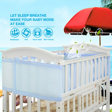Magic fit Baby Bed Crib Bumper Breathable Detachable Cotton Newborn Bumpers Infant Safe Fence Washable Cot Protector Unisex