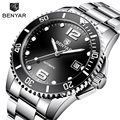 BENYAR автоматические часы  мужские механические часы  лучший бренд  роскошные черные часы  мужские водонепроницаемые деловые наручные часы ...
