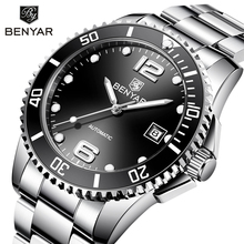 BENYAR Automatic Watch Men Mechanical Mens Watches Top Brand Luxury Black Clock Men Waterproof Business Wristwatch Reloj Hombre цены