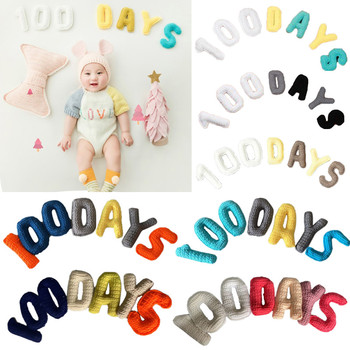1 Set Newborn Baby 100 Days Creative Knitting 3D Letters Props Photography Backdrop Photo Shooting Background Accessories 150x220cm london city night view backdrop london bridge photography background outdoor shooting props