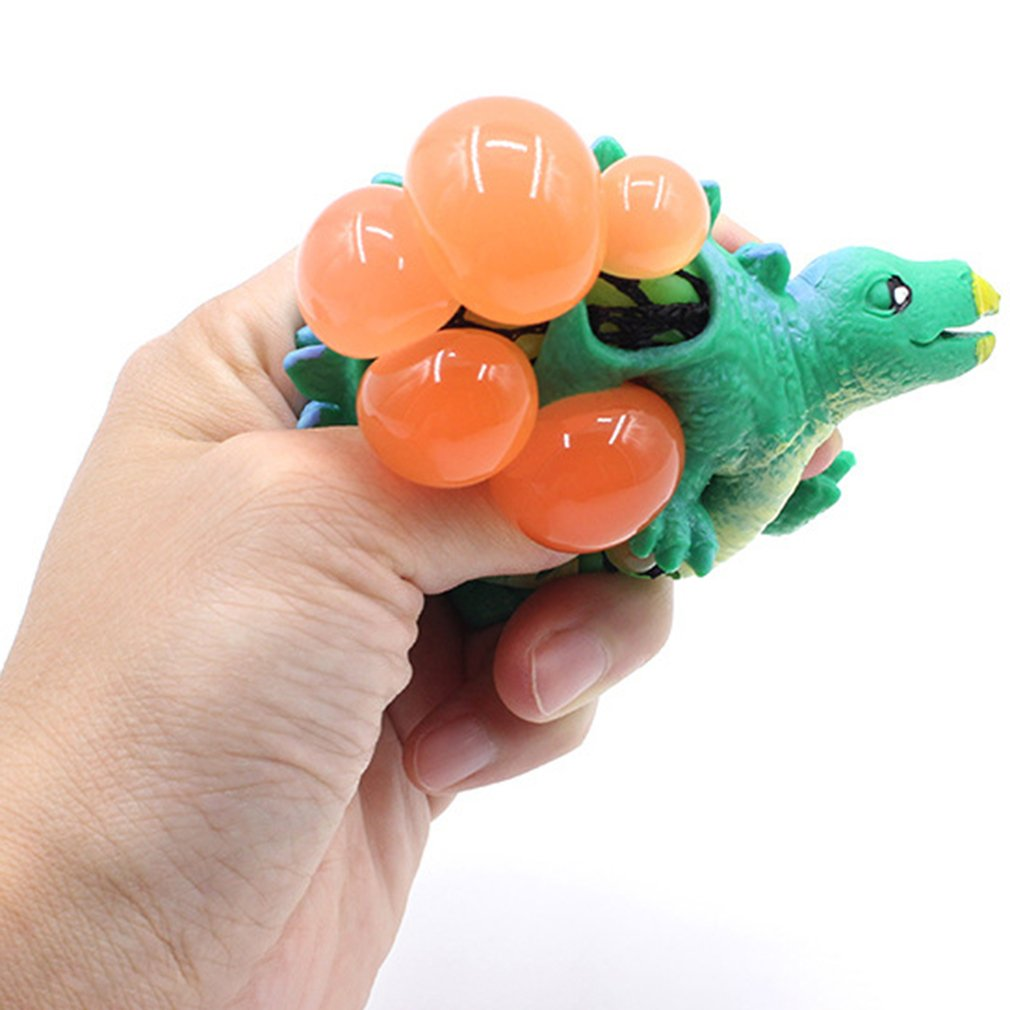 OCDAY Dinosaur Model Grape Venting Balls Toys PU Simulation Squeeze Pressure Ball Stress Relief Toy Cute Gift For Children Adult