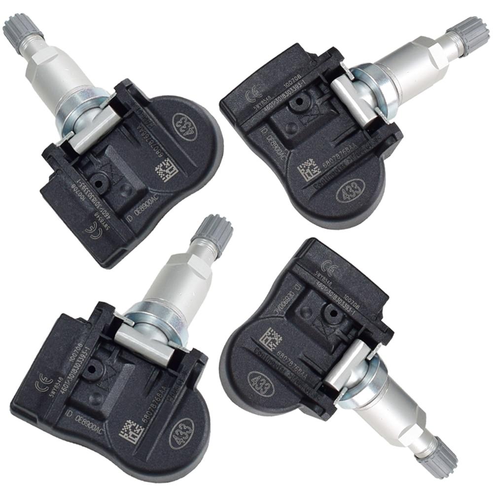 4Pcs Reifen Druck Monitor Sensor 68078768AA 56029481AA/AB TPMS Sensor Für Jeep Grand Cherokee Liberty Patriot Kompass Kommandant
