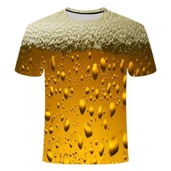 Summer T-shirt 3D/beer/letters/poker/printing men and women fun novelty T-shirt O-neck short sleeve top fashion street T-shirt mardi gras princess new orleans nola bouron street party costume womens t shirt short sleeve o neck t shirt homme top tee