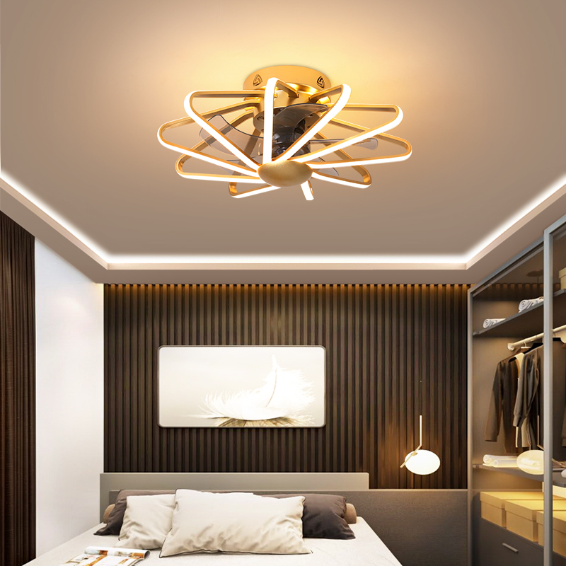 Modern Ceiling Fan With Remote Led Ceiling Fan With Light Living Room Fans 110V 220V Ceiling Fan With Led Light White