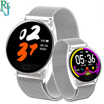 Smart Watch K9 Waterproof Steel Band Bracelet Information Reminder Heart Rate Sleep Monitoring Music Multiple Sports band image