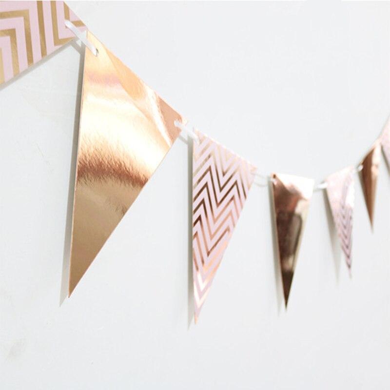 1 комплект, баннер из фольги, розового/золотого/серебряного цвета