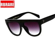 RBRARE Flat Top Oversized Square Sunglasses Women Gradient 2019 Classic Sun Glasses For Big Eyewear UV400