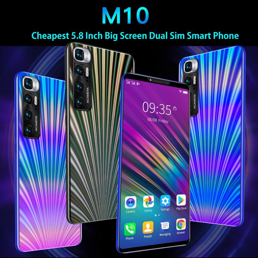 Самый дешевый смартфон CECTDIGI M10, 5,8 дюймовый полноэкранный смартфон, Android 4,4, 512 МБ ОЗУ + 4 Гб ПЗУ, разблокированные мобильные телефоны с двумя Sim-...