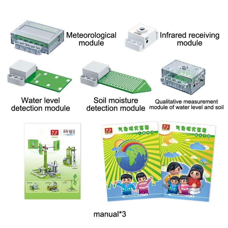 BanBao 6923 5 In 1 Meteorology Exploration Technic Machine Experiment Brick