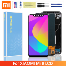цена на Original 6.21'' LCD For Xiaomi Mi 8 LCD Display LCD Touch Screen Digitizer with Frame Replacement For Xiaomi mi8 LCD Screen