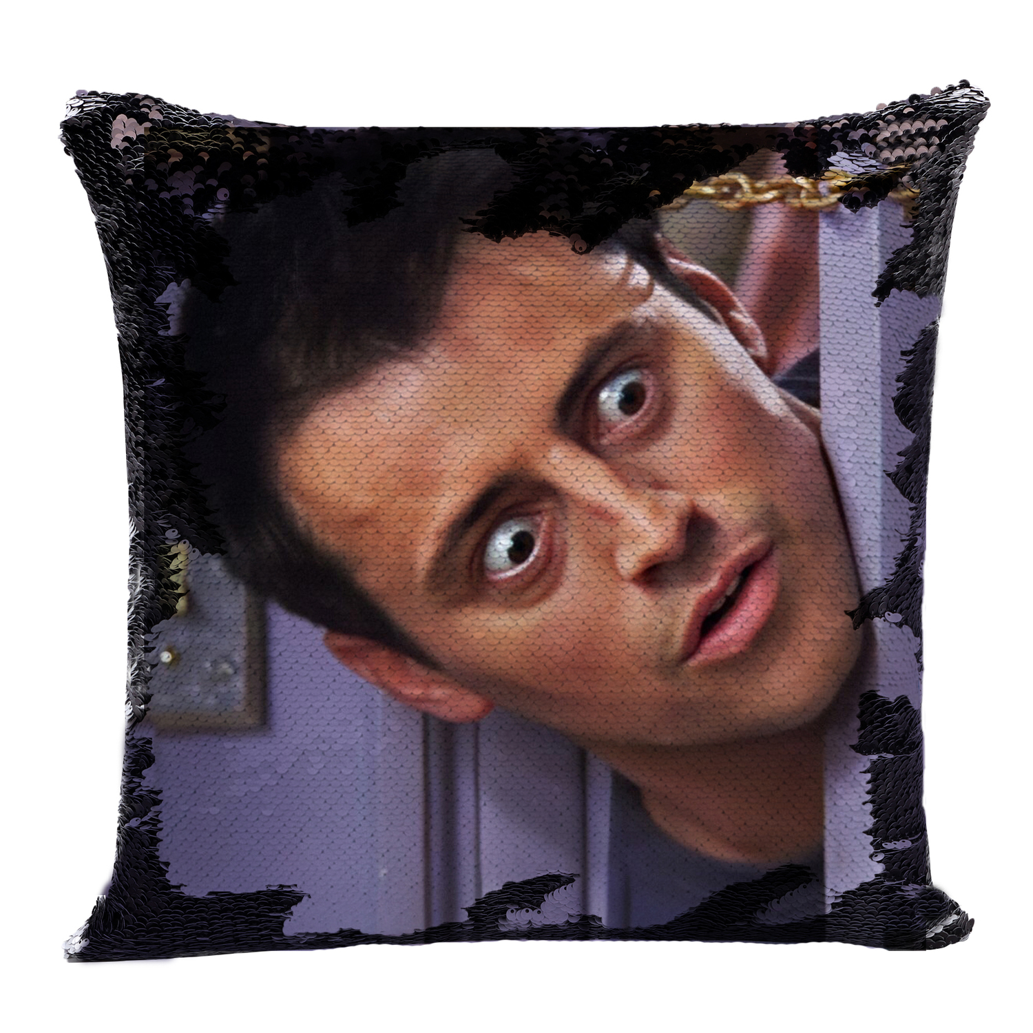 Joey Tribbiani Sequin Pillow Sequin Pillowcase Two Color Pillow Gift For Her Gift For Him Magic Pillow Friends TV Show image
