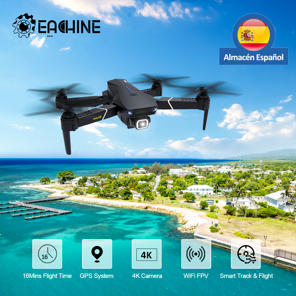 Eachine E520S RC Drone Profesional HD 4K 1080P Camera 5G GPS WIFI FPV Wide Angle Foldable Quadcopter RTF Christmas Gift 3 Days|RC Helicopters| - AliExpress