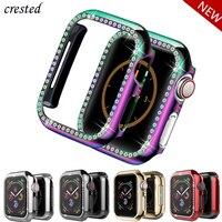 Funda ostentosa para Apple watch, Protector de parachoques de diamante, 44mm, 40mm, 42mm, 38mm, series 6, 5, 4, 3, 2 SE, accesorios