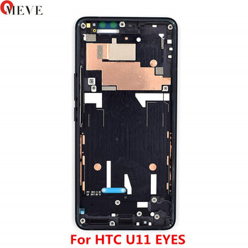 10pcs/lot Original Middle Frame For HTC U11 Eyes Mid Frame Front Housing Bezel Repair Parts Replacement For HTC U11 Eyes