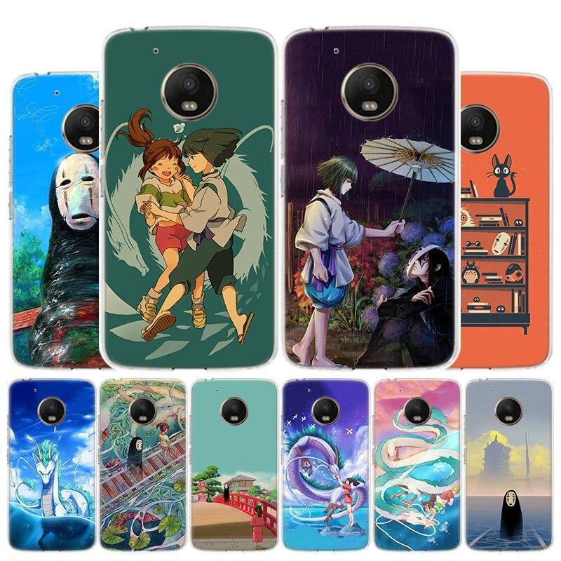 Spirited Away Ghibli Miyazaki Phone Case For Motorola Moto G8 G7 G6 G5S G5 G4 E6 E5 E4 Plus Play Power One Action X4 Cover Coque