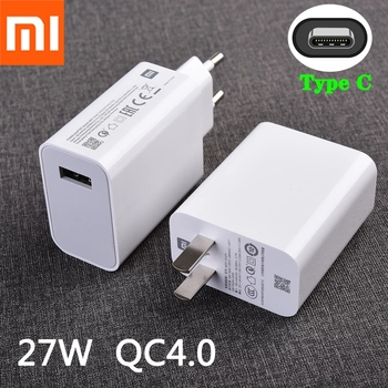 Xiaomi 27W Fast Charger QC 4.0 Turbo Adapter USB C Cable For Mi 9 10 9T Pro Max 3 Mix 3 A3 CC9 Redmi note 8 9 pro 8T 9s