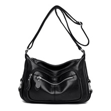 цена на The New Genuine Leathers Women Handbag Luxury Messenger Bag Soft pu Leather Shoulder Fashion Ladies Crossbody Bags Female Bolsas