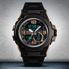SKMEI Casual Quartz men Watch Outdoor Sport Mens Watches Big Dial Man Dual Display wristwatch Waterproof Male Clock reloj hombre