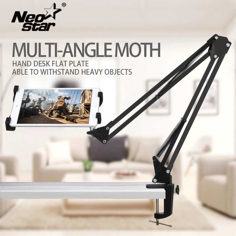 Titular Estande Tablet Universal Long arm Para Ipad 2 3 4 Ar Mini Para Samsung Lenovo Preguiçoso Bed Desk Mount suporte para 6-11 Polegada Tablet PC