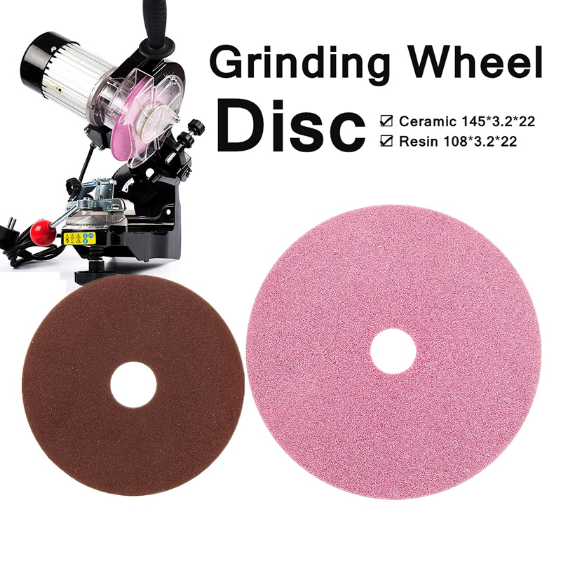 Ceramic/Resin Electric Chainsaw Wheel Disc Replacement Grinding Polishing For Chainsaw Sharpener Grinder 3/8 & 404 Chain Teeth