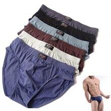 5 pcs/ lot Men Underwear Briefs Cotton Sexy Brief Underpants