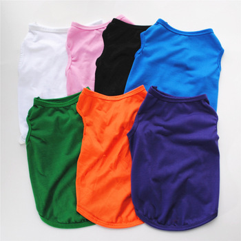 Summer Pet Clothes for Small Medium Dogs Solid Cotton T-shirt Dogs Accessories Pet Supplies Cat Vest Shirts