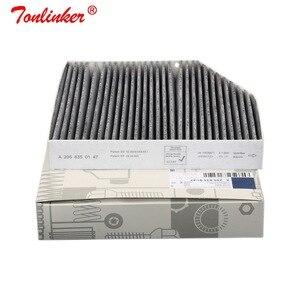 Image 4 - Filtr powietrza kabinowego dla MERCEDES BENZ C CLASS W205 A205 C205 S205 C160 C180 C200 C220 C250 C300 C350 C400 C450 C63 Model 2014 2019