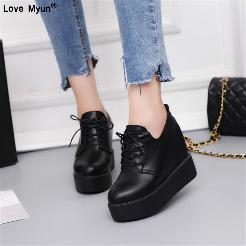 2019 Women Casual Shoes Brand Spring Breathable Mesh Woman Platform Shoes Height Increase Zapatillas Mujer fgb78