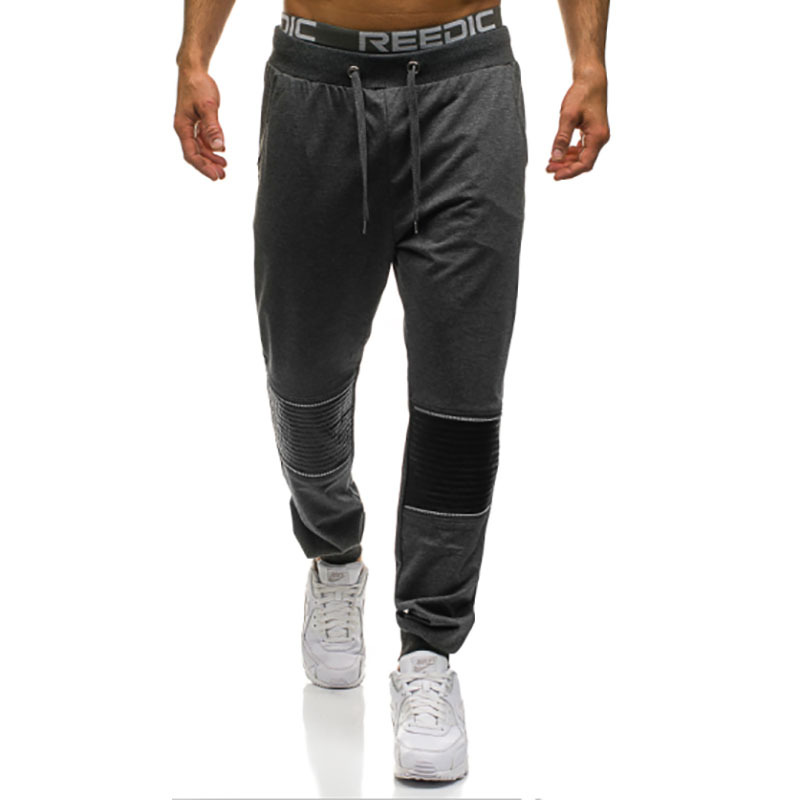Hot Sales MEN'S Sports Trousers Fight Skin Design Running Training Unique Zipper Decorations Ankle Banded Pants