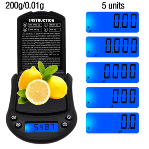50 шт DHL FEDEX Мини цифровые весы 200 г 0,01 г портативные электронные ювелирные изделия Вес ing алмазные карманные весы
